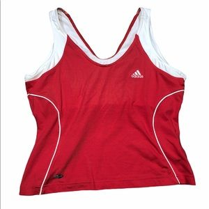 Adidas size large pink athletic fitness tank top